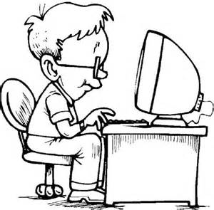 a student studying on computer coloring page coloring sun