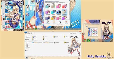 theme windows 8 1 kantai collection shimikaze kantai collection theme win 8 or 8 1