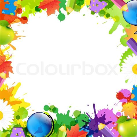 background design for kinder back to school frame stock photo colourbox