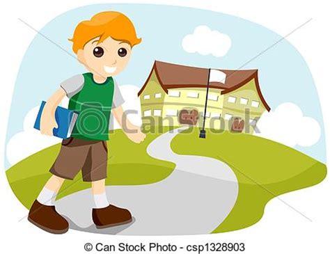 imagenes niños yendo ala escuela ni 241 o escuela yendo ruta de recorte dibujos buscar