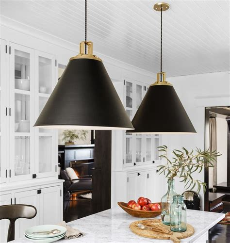 Black Pendant Lights For Kitchen Pendant Lights Decor Kitchen Hanging Black White Gold Ideas