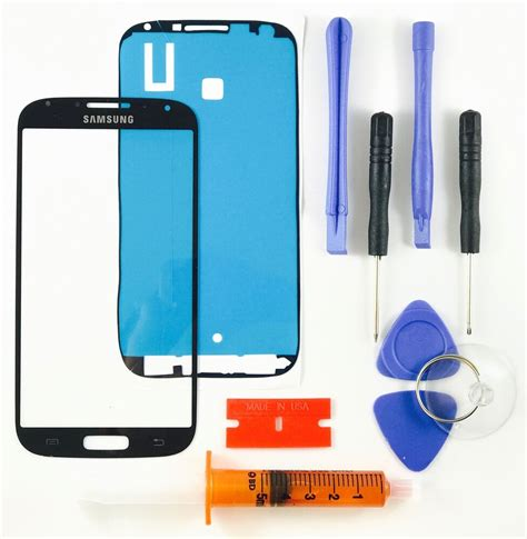 samsung s screen replacement samsung galaxy s4 i9500 black front glass lens screen replacement kit tool glue ebay