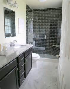 should i have a bath or shower 4 reasons you should use black subway tile in your bathroom