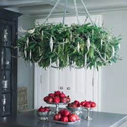 Ornament Chandelier Holiday Wreath Chandelier Martha Stewart