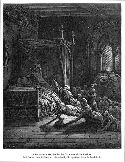 A Fulk Of Ghosts fulk nerra assailed by the phantoms of his victims gustave dore wikiart org