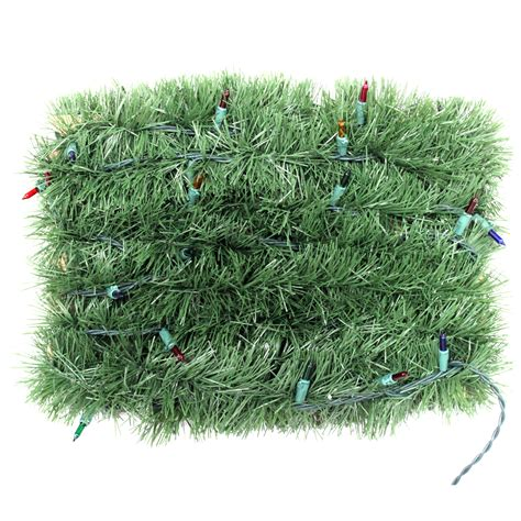 pre lit 18 garland multi lights trim a home 174 lighted garland with multi
