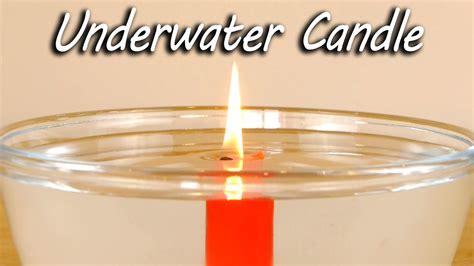 easily burn  wax candle underwater