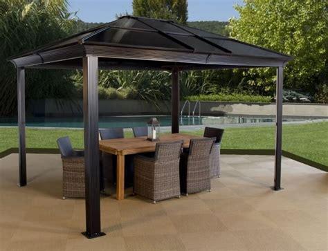 pavillon überdachung terrasse 25 melhores ideias sobre gartenpavillon metall no
