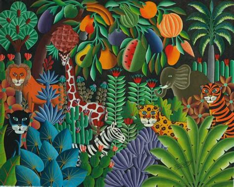 jungle painting jungle paintings by haitian maxo