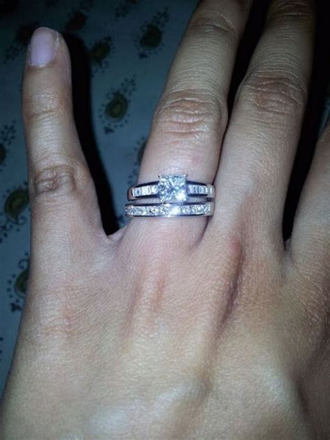 my princess cut e ring with princess cut channel set