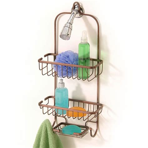 Hanging Bathroom Shower Caddy Hanging Shower Caddy Rubbed Bronze In Shower Caddies