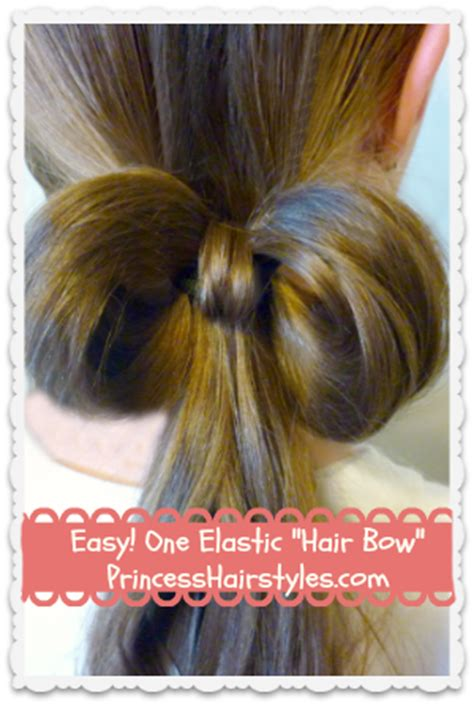 simple hairstyles with one elastic 1 elastic bow made from hair easy hairstyles