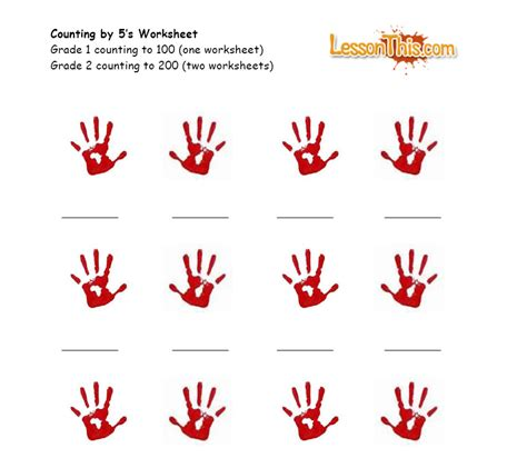 new year activities for fives handprint counting by 5 s lesson this
