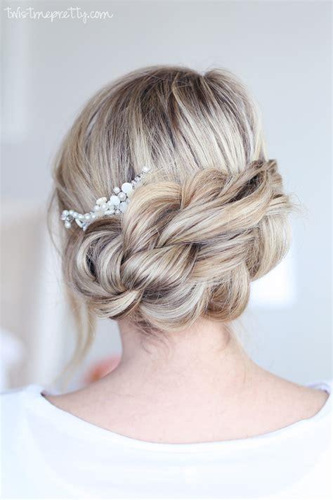 Updo Braid Hairstyles by Easy Braided Updo Twist Me Pretty