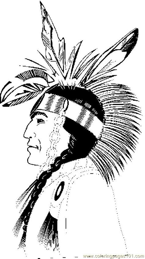 coloring pages native american profile holidays