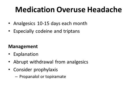 Medication Overuse Headache Detox by Headache Catriona Gribbin Ppt