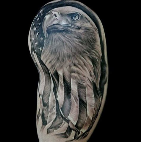 bald eagle tattoos top 60 best american flag tattoos for usa designs