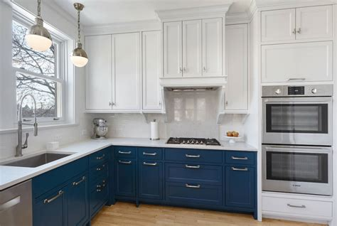 blue painted kitchen cabinets design trend blue kitchen cabinets 30 ideas to get you