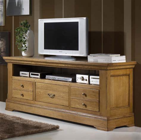 meuble tv chene meuble tv haut chene massif