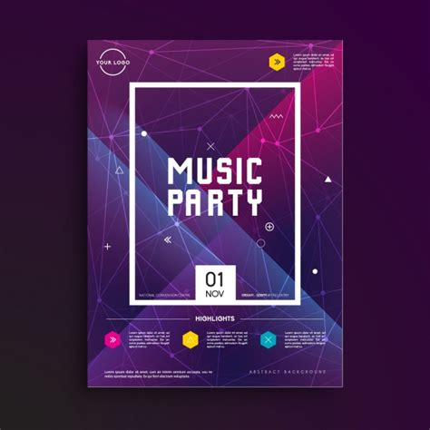 templates for party posters music party poster template vector free download