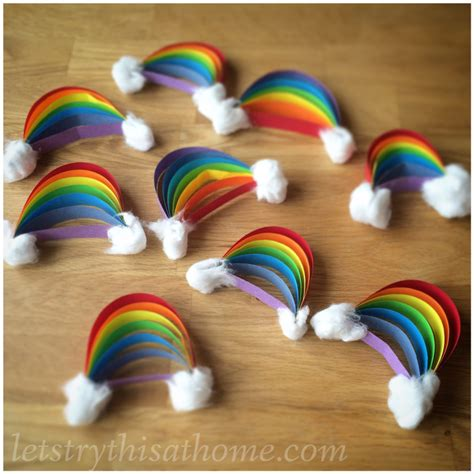 Hanging Decorations For Home paper rainbow craft letstrythisathome