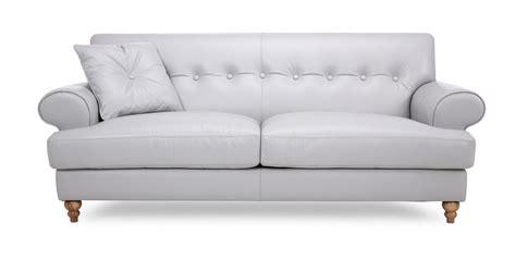 grey leather sofa dfs dfs arcade grey leather 3 seater sofa 85324 ebay