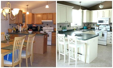 pictures of painted kitchen cabinets before and after painted oak kitchen cabinets painted white cathedral style