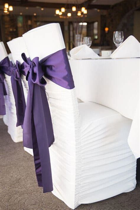 2017 2015 purple wedding chair sashes taffeta custom made