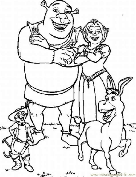 Shrek Color Pages Coloring Home Shrek Coloring Pages