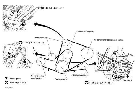 2000 nissan xterra serpentine belt routing and timing belt