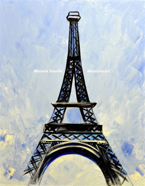 eiffel tower paintings canvas painting original by malorcka 169 00