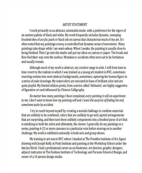 fashion design personal statement 10 artist statement exles sles pdf