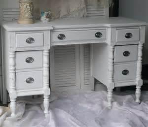 vintage desk vanity shabby chic white