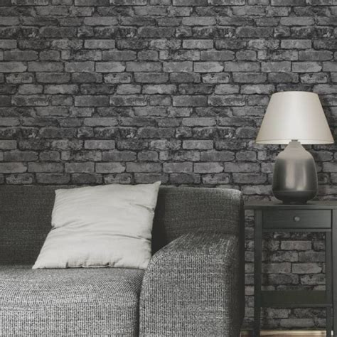 black and white wallpaper for walls home design brick wall black and white wallpaper tv above