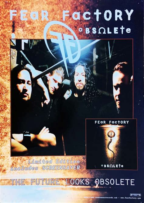 dvd format obsolete fear factory obsolete album promo band image poster