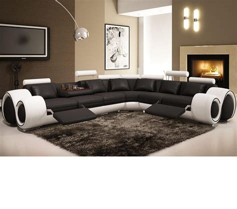 modern leather sectional sofa with recliners dreamfurniture 4087 modern leather sectional sofa