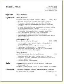 Resume Format For Office office assistant resume sle getessay biz