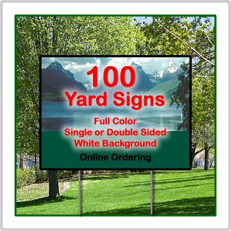 Backyard Signs by Color Yard Signs 24 X 18 Corrugated Plastic 100 Signs