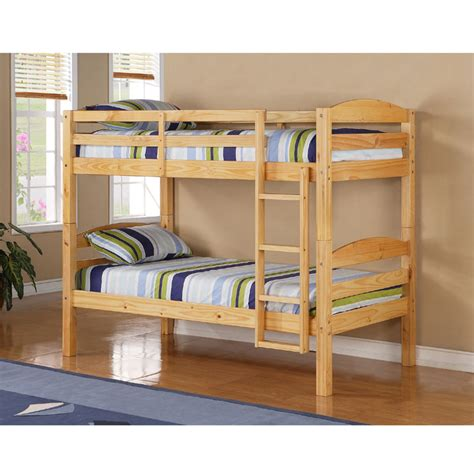 solid wood bunk bed walker edison solid wood twin size bunk bed natural bwstotnl