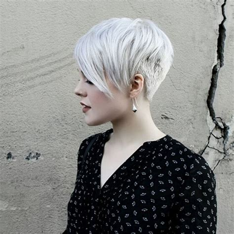 silver pixie hair cut 40 best looking asymmetrical haircuts for every face shape