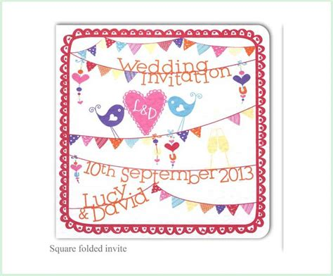 summer fete wedding invitations summer fete we are tickled pink
