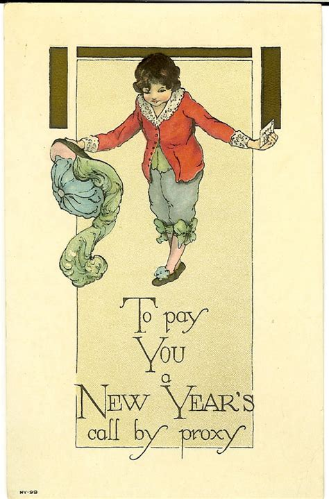 new year postcard vintage postcards page 2 austen in vermont