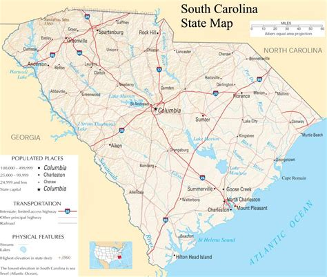 south carolina map south carolina state map a large detailed map of south