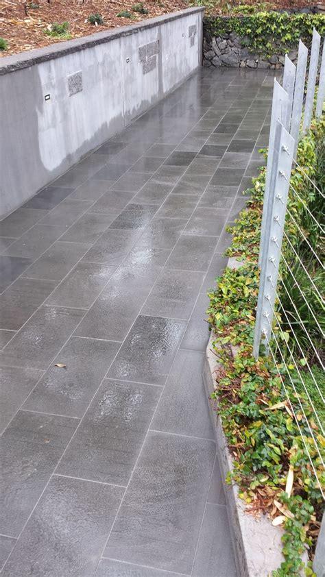Pattern Grading Brisbane | sawn bluestone paving by ecobuilt landscaping brisbane