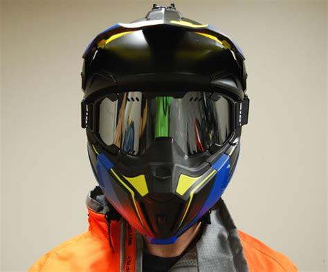 Nose Guard Kyt K2 Rider tracks in the ckx titan snowmobile helmet snoriders