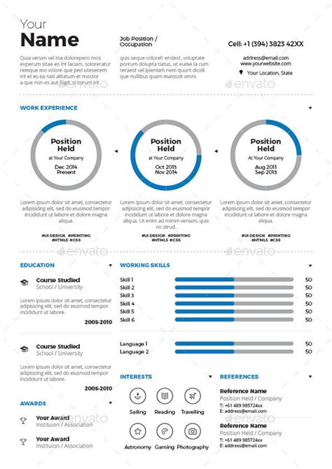 infographic resume template free professional resume templates resume template 2017