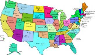 united states map names united states map with capitals and state names color