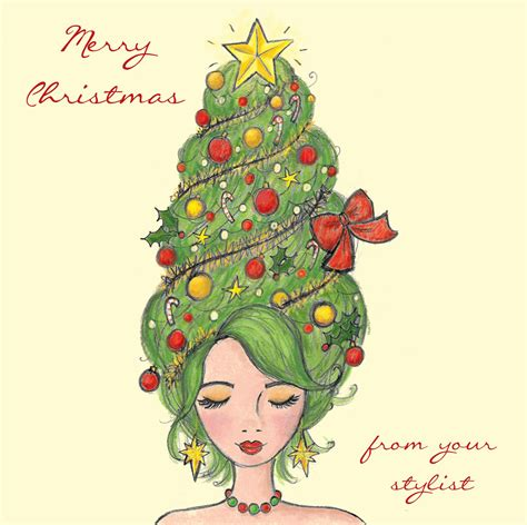 hairdressers christmas cards pack