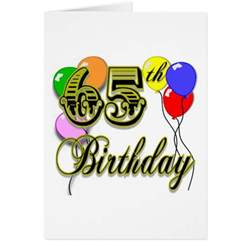happy 65th birthday merchandise greeting cards zazzle