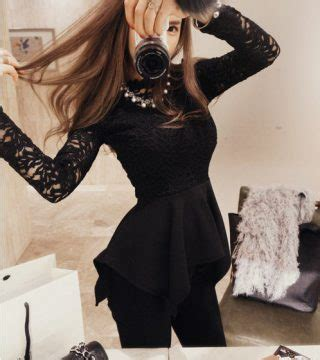 Po Atasan Import Fashion Korea A40937 baju atasan wanita brokat hitam model terbaru jual